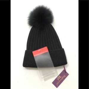 Accessories - 💗Real Fox Fur Black Ladies Hat -Flemington Furs